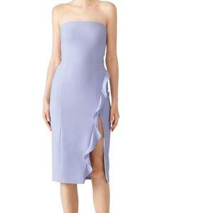 Jay Godfrey strapless midi slit dress